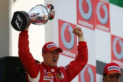 Podium: race winner Michael Schumacher