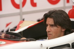 Giorgio Pantano has his seat fitted