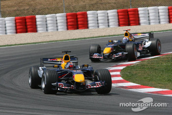 Christian Klien leads David Coulthard