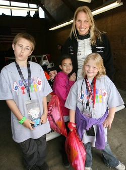 Salvation Army kids: Liz Halliday poses with young fans