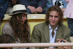 Charity football match: Andrea Casiraghi, son of Princess Caroline and Nephew of Prince Albert II of Monaco, with his girlfriend, heiress Tatiana Santo Domingo