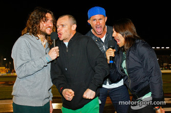 John Frusciante, Flea, Chad Smith and Anthony Kiedis give the 