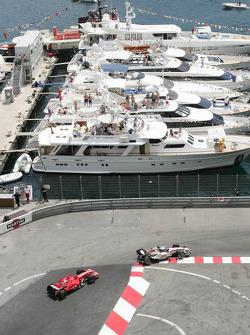 Jenson Button and Michael Schumacher