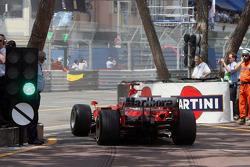 Start: Michael Schumacher exits the pits