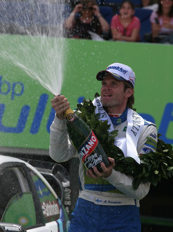 Podium: champagne for Marcus Gronholm