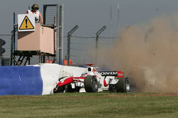 Takuma Sato in trouble