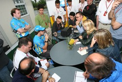 Fernando Alonso meets the press