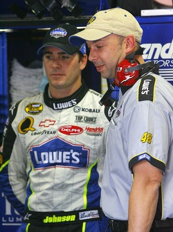 Jimmy Johnson and crew chief Chad Knaus