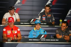 FIA press conference: Michael Schumacher, Fernando Alonso, Juan Pablo Montoya and Scott Speed