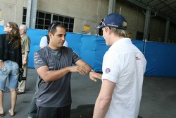 Juan Pablo Montoya and Scott Speed