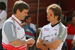 Pascal Vasselon, Toyota Racing, General Manager Design, with Jarno Trulli