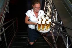Red Bull chilled Thursday: a waitress