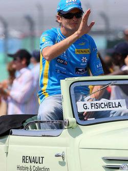 Drivers parade: Giancarlo Fisichella
