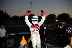 Race winners Allan McNish celebrate