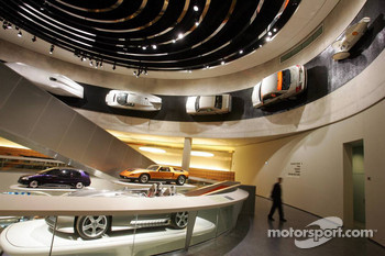 DaimlerChrysler Mercedes media warmup event: the Mercedes-Benz museum in Stuttgart