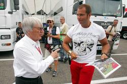 Bernie Ecclestone and Kai Ebel
