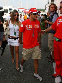 Felipe Massa with his girlfriend Rafaela Bassi