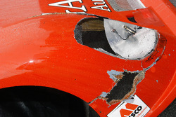 Crash damage at the front