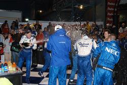 Robin Liddell sprays the crew