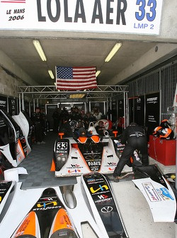 Intersport Racing garage area