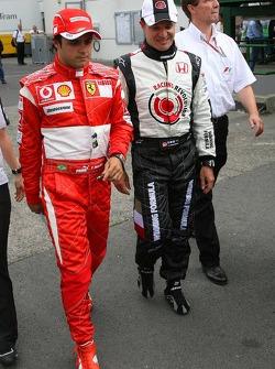 Felipe Massa and Rubens Barrichello