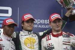 Nelson A. Piquet 1st, Lewis Hamilton 2nd, Alexandre Premat 3rd