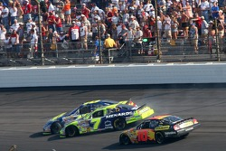 Robby Gordon and Greg Biffle crash