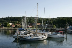Beautiful Watkins Glen marina on Seneca Lake