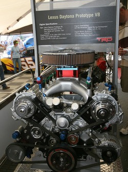 Toyota Racing display: the 2007 Lexus Daytona Prototype engine