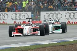 Emerson Fittipaldi ahead of Riccardo Patrese