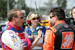 Ken Schrader and Tony Stewart