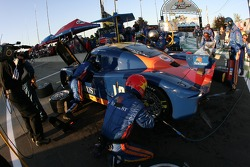 Pitstop for #10 SunTrust Racing Pontiac Riley: Wayne Taylor, Max Angelelli, Ryan Briscoe