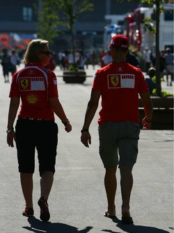 Michael Schumacher and his personal press officer Sabine Kehm