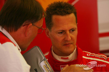 Michael Schumacher with Kees van de Grint