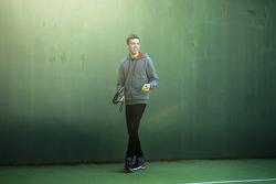 Daniil Kvyat, Red Bull Racing plays racquet ball