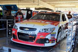The car of Michael Annett, HScott Motorsports Chevrolet goes through inspection