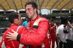 Race winner Jordi Gene, second place Pepe Oriola
