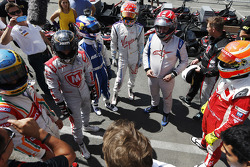 Karting event featuring Formula E drivers and VIPs