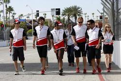 Mahindra Racing track walk