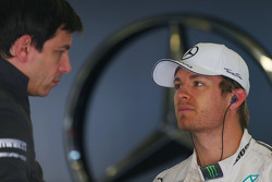 (L to R): Toto Wolff, Mercedes AMG F1 Shareholder and Executive Director with Nico Rosberg, Mercedes AMG F1