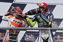 Podium: third place Valentino Rossi, Yamaha Factory Racing and winner Marc Marquez, Repsol Honda Team