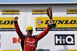 Podium: Second placed Matt Neal