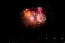Post-race fireworks display