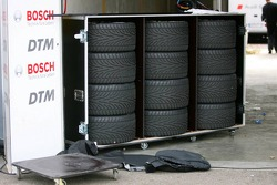 The tyres used by the teams are stored in DMSB seasled flighcases