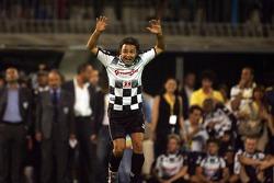 National drivers charity football match at Stadio Brianteo Stadio Brianteo: Felipe Massa