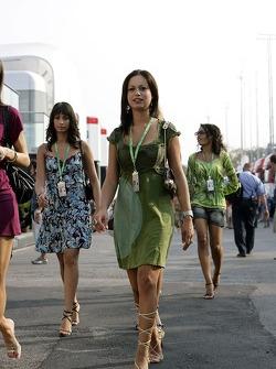 Formula Unas girls Roberta Remoli, Claudia Cimini and Barbara Silva