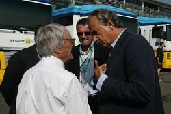 Angelo Codignoni, Eurosport president and CEO, Bernie Ecclestone, Marcello Lotti, General Manager of KSO