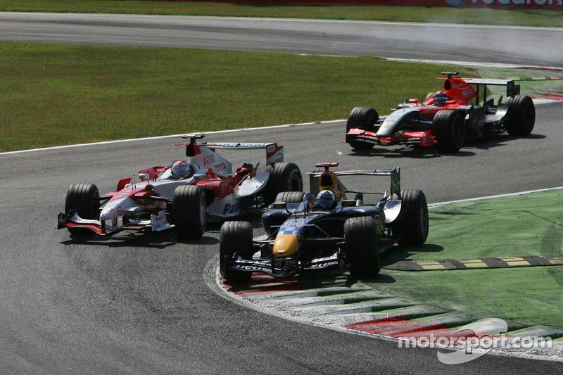 David Coulthard, Jarno Trulli and Christijan Albers