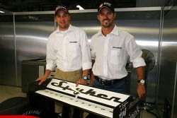 Spyker MF1 Racing press conference: Christijan Albers and Tiago Monteiro
