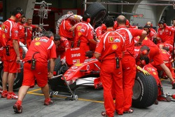Scuderia Ferrari practice pitstops
